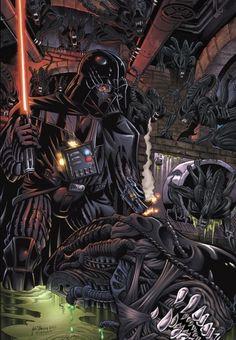 Darth Vader vs ALIENS