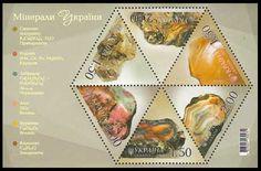 Odd Shape Stamps: Ukraine Diamond shape stamps