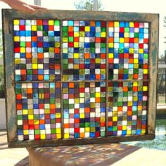Stained Glass Mosaic Repurposed Window Pieces of by ARTfulSalvage, $350.00
