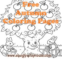 Free, big, printable Autumn Coloring Pages for kids.