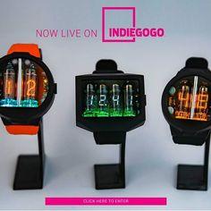 #nixoid #clock #watch #geektime #geek #nixiewatch #tubes #electronics #handmade #real #vacuumtube #geek #wristwatch #nos #selfmade #numitron #design #vacuumtube #nixieclock #make #gadget #milling #tubewatch #nixie #sovietunion #ussr #nixiewristwatch #handwatch #nixiehandwatch #fallout #fallout3 #nuclear Nixie Tube Watch, Awesome Watches, Designer Watches, Hand Watch, Vacuum Tube, Diy Electronics, Light Orange, Linux, Futuristic