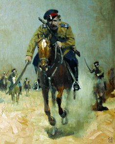 Red Army cavalry charge, Russian Civil War