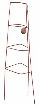 """GLAMOS WIRE 46"""" Red Diamond Cage Sold in packs of 10 by GLAMOS WIRE. $60.02. * Three legs and four rings. protector. * Great for plant support, vine climber and tree b. * Red * 46"""". * Patented design allows for after the fact use. * Patented design allows for after the fact use * Great for plant support, vine climber and tree base protector * Use on static items such as flag poles, mail boxes and fence posts * Three legs and four rings * Red * 46"""". Save 26%!"""