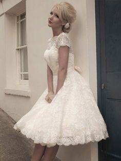 Короткие свадебные платья 2015 - фото модных тенденций сезона
