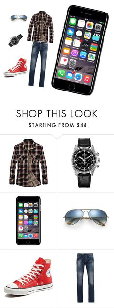 """""""Untitled #6"""" by danielahalcinova ❤ liked on Polyvore featuring Zenith, Off-White, Ray-Ban, Converse, Armani Jeans, men's fashion and menswear"""
