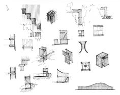 Architecture Concept Sketches For A Dominican Monastery In Orvieto