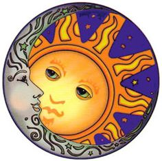 sun and moon would look great painted on round pave stone