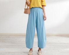 Womens Cotton Harem Pants Yoga Drop Crotch Trousers Baggy Alibaba Lagenlook