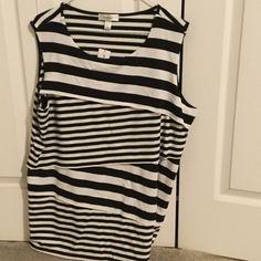 Striped top Striped layered Dress Barn Tops