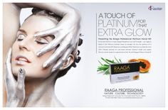 Our Print ad for Raaga's Professional. Take a look! Print Ads, Cool Designs, Halloween Face Makeup, Take That, Print Advertising