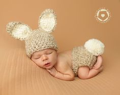 This listing is for a furry bunny set ..    Made to order to please allow up to 3 weeks for delivery    Great gender neutral prop for your newborn