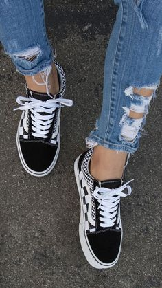 41ced487cbf Checkered vans Pinterest    carriefiter    90s fashion street wear street  style photography style