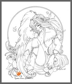 blossoming by Tanael.deviantart.com on @deviantART             Angel Fantasy Myth Mythical Legend Wings Warrior Valkyrie Anjos Goth Gothic Coloring pages colouring adult detailed advanced printable Kleuren voor volwassenen coloriage pour adulte anti-stress kleurplaat voor volwassenen Fairy Coloring Pages, Free Adult Coloring Pages, Disney Coloring Pages, Coloring Books, Fairy Drawings, Dark Art Drawings, Harley Quinn Drawing, Fairy Tattoo Designs, Chicano