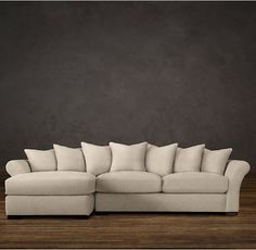 Camelback Upholstered Left-Arm Sofa Chaise Sectional