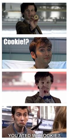 Don't mess with David Tennant's cookies.