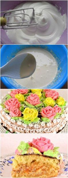 RECEITA MUITO FÁCIL E DELICIOSA, BOLO DE BISCOITO…FICA LINDO!! PASSO A PASSO VEJA AQUI>>>Adicione uma pitada de sal às proteínas e bata com um misturador até os picos moles. #receita#bolo#torta#doce#sobremesa#aniversario#pudim#mousse#pave#Cheesecake#chocolate#confeitaria# Mole, Bon Appetit, Cheesecake, Breakfast, Vanilla Sugar, Sponge Cake, Light Pasta, Biscuit Cake, Chocolate Frosting