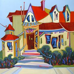 contemporary cityscape painting by Carolee Clark