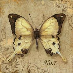 Yellow Butterfly  Cross stitch pattern pdf format by diana70, $6.50