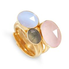 How to style our chic pastel gemstones with SVP Jewellery. Jewelry Show, Jewelry Party, Jewelry Stores, Jewelry Gifts, Jewelery, Jewelry Design, Gemstone Colors, Gemstone Rings, Blue Lace Agate