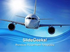 Airplane Transportation PowerPoint Templates And PowerPoint Backgrounds 0511  Presentation Themes and Graphics Slide01