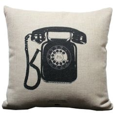 Old Nostalgic Retro Telephone Throw Pillow Case Decor Cushion Covers Square 1818 Inch Beige Cotton Blend Linen Decorative Pillow Cases, Throw Pillow Cases, Decorative Throw Pillows, Cushion Inserts, Cushion Covers, Pillow Covers, Funky Decor, Retro Phone, Cushion Ring