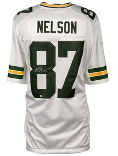 frank zombo green nfl jersey 58 fanatics authentic jordy nelson green bay packers autographed white