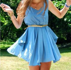 Blue floaty summer dress