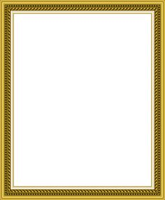 Transparent Golden PNG Photo Frame