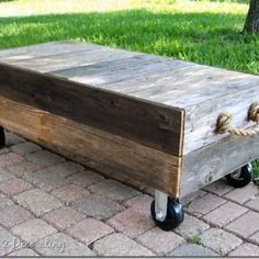 How to Make a Cart Coffee Table {inspired by Restoration Hardware}