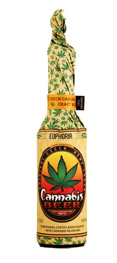 Euphoria Cannabis Beer ♦ Lager beer, flavoured with hemp blossom extract. Medical Cannabis, Ganja, Craft Beer, Packaging Design, Drugs, Herbalism, Alcohol, Herbs, 50 States