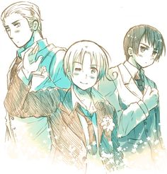 Japan, Italy, Germany, Hetalia