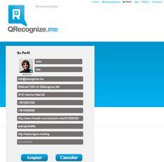 Perfil usuario QReconigze.me