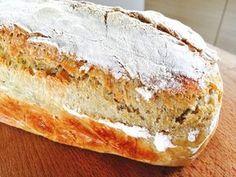 Oppskrift eltefritt brød uten gryte Banana Bread, Food And Drink, Breakfast, Desserts, Alternative, Morning Coffee, Tailgate Desserts, Deserts, Postres