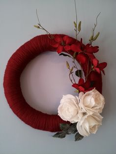 Valentines Rose Wreath