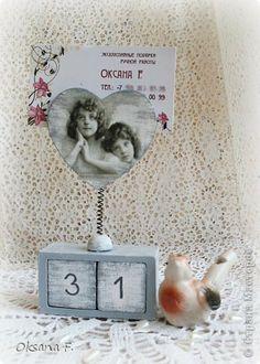 Декор предметов Декупаж Календарь-визитница Дерево фото 1