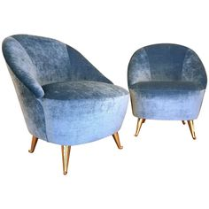 Italian 1950's Diminutive Slipper Chairs by ISA | From a unique collection of antique and modern slipper chairs at http://www.1stdibs.com/furniture/seating/slipper-chairs/