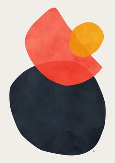 Balance Art Print by Tracie Andrews Silkscreen, Balance Art, Balance Design, Illustrations, Illustration Art, Art Moderne, Grafik Design, Minimalist Art, Geometric Art
