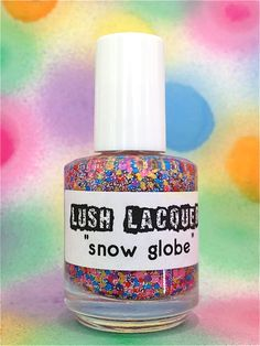 Snow Globe :  Custom-Blended Glitter Nail Polish / Lacquer. $8.75, via Etsy.
