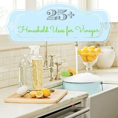 25 ways to use vinegar in the house #cleaning #home #vinegar