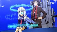 Iona steruje okrętem I-401, obok niej Gunzou Chihaya