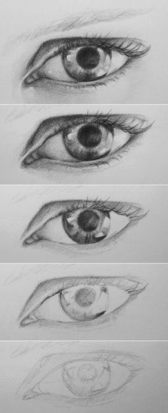 Learn to draw the eye in realistic form