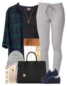 """Navy. "" by livelifefreelyy ❤ liked on Polyvore featuring Lost & Found, Forever 21, Madewell, Movado, Yves Saint Laurent, adidas Originals, Maison Margiela, Lana, Gucci and women's clothing"