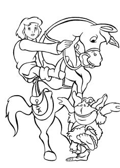 cavin gruffi from gummi bears coloring pages for kids printable free