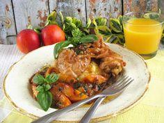 Bazsalikomos -nektarinos csirkecombfiléNagyon szeretem idénynek megfelelő gyümölcs körettel kombinált sült húsokat, bármilyen gyümölccsel nagyon finom (barack,szilva,dinnye,ananász) isteni finom.Hozzávalók: 2 főreelkészítési idő:35-45 perc4 db csirke felsőcomb filé(bőr nélkül)só,bors