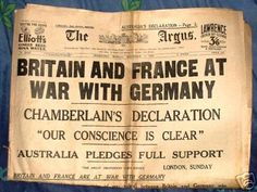 This is a picture showing a newspaper article of great britain and france vs germany in the war European History, British History, World History, World War Ii, American History, Jewish History, Historia Universal, Newspaper Headlines, Military History