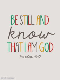 Sweet Blessings: Be Still and KNOW plus other prints