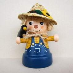 Scarecrow Flowerpot Bell Ornament by sanquicreations on Etsy, $8.99