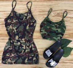 Swag Outfits, Hot Outfits, Korean Outfits, Outfits For Teens, Summer Outfits, Girl Outfits, Camo Fashion, Fashion Outfits, Womens Fashion