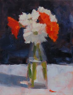 oil on canvas; one of my still life paintings from the workshop with Stanley Bielen