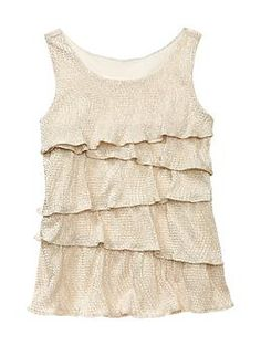 """Tiered Sparkle Tank (Gold)"" - $29.95 @ Gap"